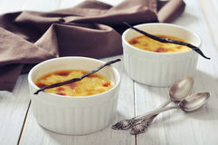 The creme brulee Stock Photo