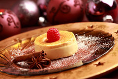 Creme brulee for Christmas Stock Photography