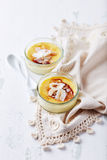 Creme Brulee with Coconut Stock Image