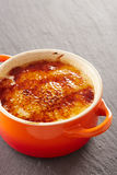 Creme brulee in a cocotte Royalty Free Stock Photography