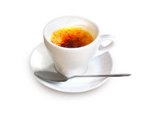 Creme Brulee in a coffee cup Stock Photo