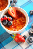 Creme brulee (cream brulee, burnt cream) Royalty Free Stock Photo