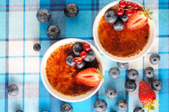Creme brulee (cream brulee, burnt cream) Stock Photo