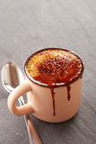 Creme brulee in a cup Stock Photo