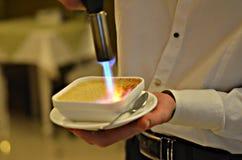 Creme brulee stock image