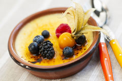 Creme brulee dessert Royalty Free Stock Photos