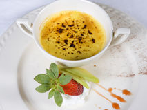 Creme brulee dessert a la carte Royalty Free Stock Images