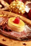 Creme brulee für Weihnachten lizenzfreie stockbilder