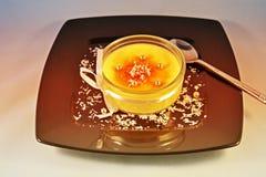 Creme Brulee, Mousse. Creme Brulee  Mousse  Cream  Vanilla   Custard  Caramel  Dessert Stock Image