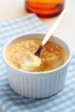 Creme brulee in a ramekin Stock Photos