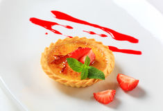 Creme brulee tartlet Royalty Free Stock Image