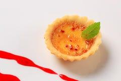 Creme brulee tartlet Royalty Free Stock Image