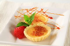 Creme brulee tartlets Royalty Free Stock Image