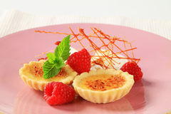 Creme brulee tartlets Royalty Free Stock Images