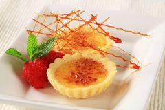 Creme brulee tartlets Stock Photography