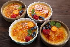 Creme brulee. Royalty Free Stock Photography