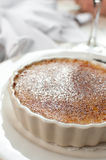 Creme brulee in white ramekin Royalty Free Stock Photo