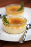 Creme brulees Stock Photo
