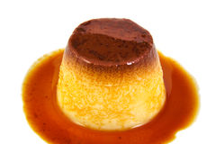 Creme caramel, caramel custard or custard pudding Royalty Free Stock Image