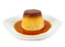 Creme caramel, caramel custard or custard pudding Royalty Free Stock Images