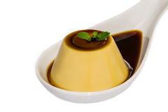 Creme caramel , Caramel custard , Custard pudding Royalty Free Stock Photography