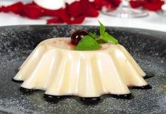 Creme Caramel Dessert Stock Photography