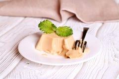 Creme Caramel Dessert (Panna Cota) Stock Images