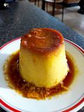Creme Caramel Dessert served at Restaurant Daylight. Traditional Food Stock Photography