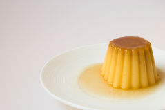 Creme caramel in a dish Royalty Free Stock Photos
