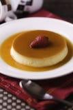 Creme caramel flan Royalty Free Stock Photo