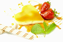 Creme Caramel Heart Royalty Free Stock Photography