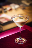 Creme caramel martini cocktail in bar Royalty Free Stock Image