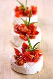 Creme cheese canapes Royalty Free Stock Photo
