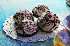 Creme cookies Stock Photos