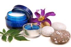 Creme cosmético azul Imagens de Stock