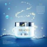 Creme da embalagem com vitaminas, aqua e coenzima Imagem de Stock Royalty Free