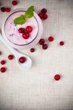 Creme da sobremesa do iogurte e da baga Imagens de Stock