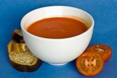 Creme da sopa de tomate Fotografia de Stock Royalty Free