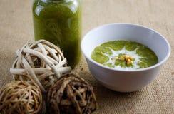 Creme da sopa dos bróculos Fotografia de Stock