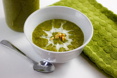 Creme da sopa dos bróculos Foto de Stock