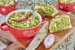 Creme de ervilhas secas verdes Fotos de Stock Royalty Free