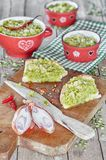 Creme de ervilhas verdes Imagem de Stock Royalty Free