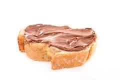 Creme e pão do chocolate Foto de Stock Royalty Free