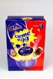 Creme Egg Easter. CHESTER, UNITED KINGDOM - March 19 2017: Cadbury`s Creme Egg Easter Egg box. A popular chocolate treat for the Easter holidays Stock Photography
