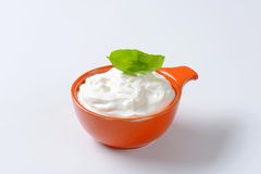 Creme fraiche Royalty Free Stock Image