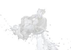 Creme hidratando no respingo grande do leite Foto de Stock Royalty Free