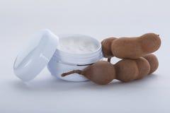 Creme hidratante extraído do tamarindo Fotos de Stock