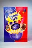 Creme jajka wielkanoc Obrazy Stock