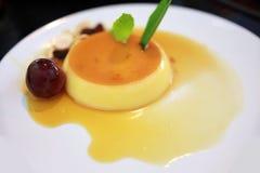 Creme karmel, karmelu custard, Custard pudding Zdjęcie Stock