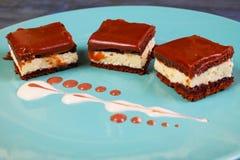 Creme ole cake closeup Stock Image